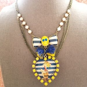 Vintage Rare Betsey Johnson Sailor Girl Necklace